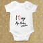 ADD YOUR OWN TEXT Baby Grow Bodysuit Personalised Baby gift