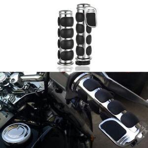 1-034-Chrome-Bullet-Motorcycle-Hand-Grips-for-Yamaha-V-Star-1100-Classic-Custom