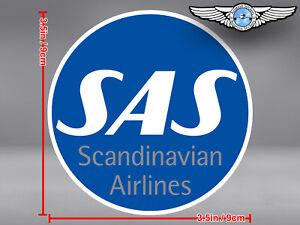 SAS SCANDINAVIAN AIRLINES ROUND LOGO DECAL / STICKER