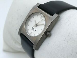 Boccia-Titanium-Watch-Swiss-Quartz-Black-Genuine-Leather-Band-Ladies-Wrist-Watch