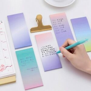 rainbow memo pad paper sticky notes notepad stationery note stickers