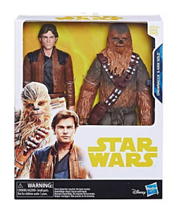 Disney-Star-Wars-Han-Solo-Hero-Series-Han-Solo-amp-Chewbacca-10-in-environ-25-40-cm-FIGURE-Nouveau