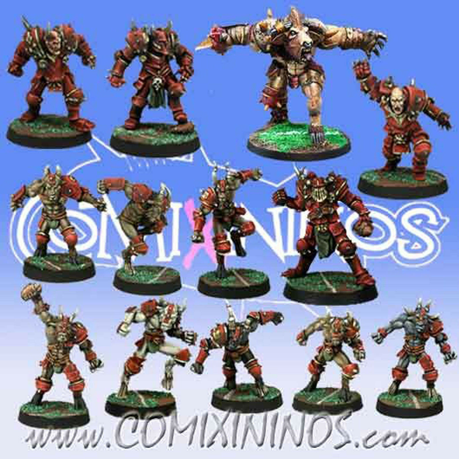 Fantasy Football - CHAOS TEAM 13 Players with MINOTAUR for Blood Bowl - Meiko
