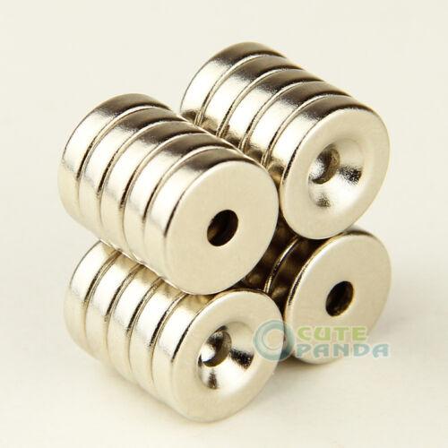 10 x stark Neodym Magnete N35 12 x3 mm Hochleistungsmagnete mit Senkung Magnete