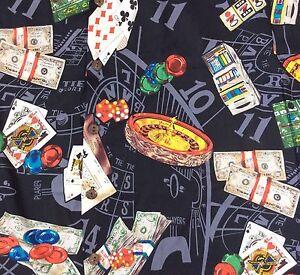 Hilo-Hattie-Hawaiian-Aloha-Shirt-Large-Vegas-Gambling-Slots-Cards-Poker-Black