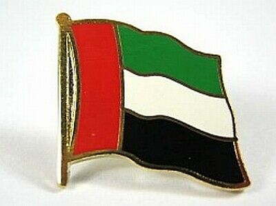 0 5/8in Methodical United Arab Emirates Flags Pin Badge New With Pressure Lock To Produce An Effect Toward Clear Vision