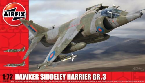 1960+ Aircraft Airfix A04055 1//72 Plastic Hawker Siddeley Harrier GR3 Modern