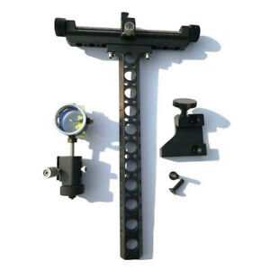 Archery-Compound-Bow-Sight-0-059-034-Optical-Fiber-Single-Pin-4X-Lens-Micro-Adjust