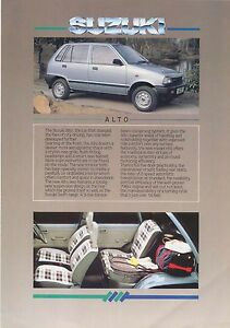 Suzuki Alto Gla Automatic 1988 92 Original Uk Sales Brochure Ebay