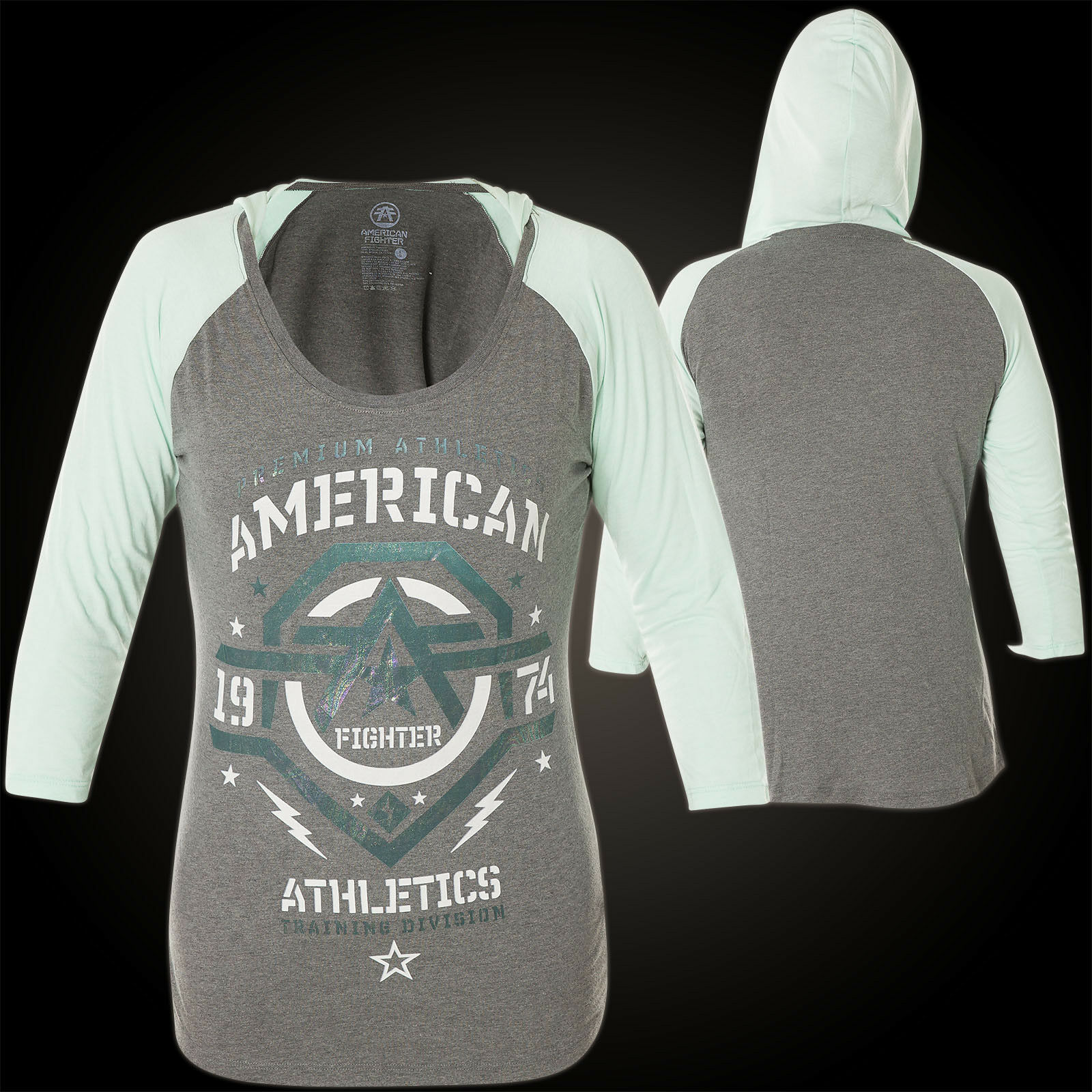 American Fighter by Affliction Woman Hoody New Mexico Grey Green