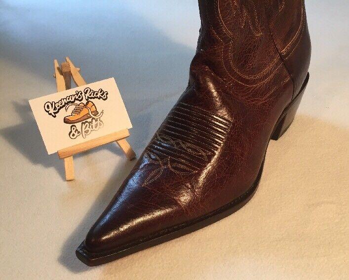 Charlie 1 Horse By cowboy Lucchesse western cowboy By Stiefel Braun Leder 10 B I4513 b95baf