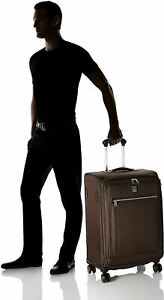740-New-Travelpro-Platinum-Elite-25-034-Expandable-Spinner-Suitcase-Luggage-Brown