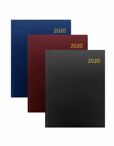2019 A4//A5//A6 Diary Day to Page or Week to View Desk Diary Hard Backed Diary
