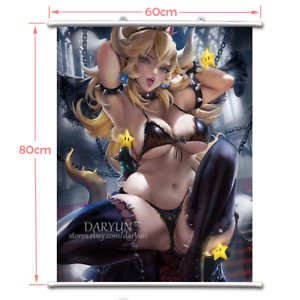 Games Super Mario Bowsette Wall Scroll Poster free shipping(23.6X31.5 in)