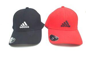 ADIDAS Men s Stretch Fit Cap  Black ~Scarlet Size Small Medium Large ... 2101230558b8