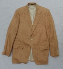 CHIPP true vintage 60s tan silk tweed three 3 button blazer sport coat jacket 40