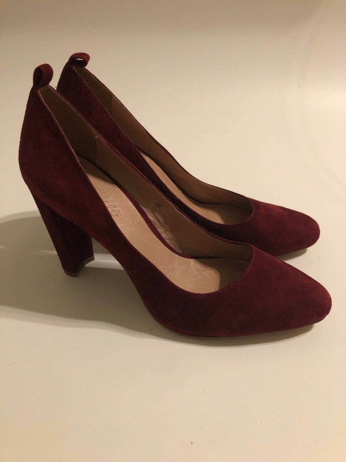 MADEWELL NEW rosso Suede Block Heel Classic  Pump scarpe donna Dimensione 8.5 M  sconto