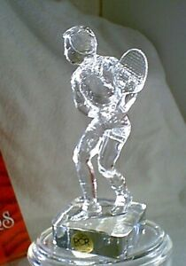 RCR Beautiful Lead Crystal Man Male TENNIS PLAYER NEW NIB Made in Italy