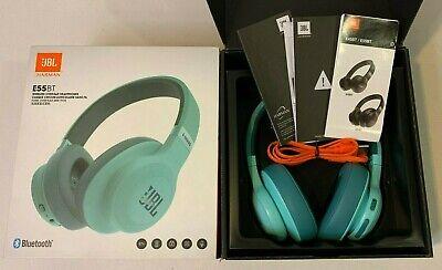 New Open Box Jbl E55bt Wireless Over Ear Headphones Blue Green Teal Ebay