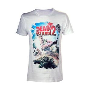 OFFICIAL Licensed Dead Island Zombie Killer Gamer White Short Sleeved Tshirt