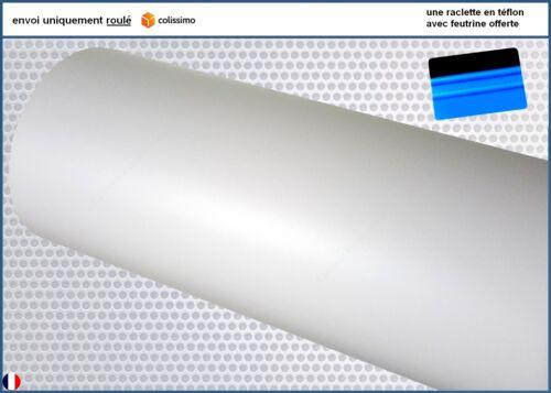 film vinyle mat blanc thermoformable adhésif sticker covering 152 cm x 40 cm