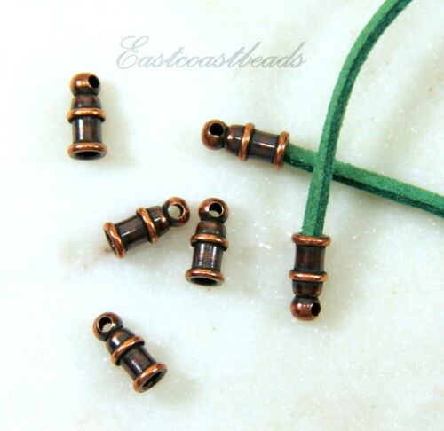 Antiqued Copper TierraCast Pagoda End Cords 2mm, 0018 4 Pieces