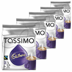 Details About Tassimo Cadbury Hot Chocolate 5 Packs 40 Servings