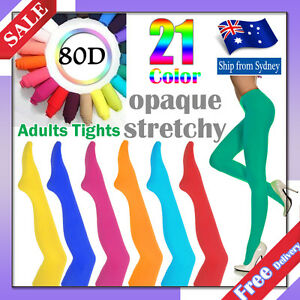 80D-Pantyhose-Tights-OPAQUE-Assorted-Colour-Dancing-Stocking-Hosiery