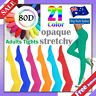 80D Pantyhose Tights OPAQUE Assorted Colour Dancing Stocking Hosiery