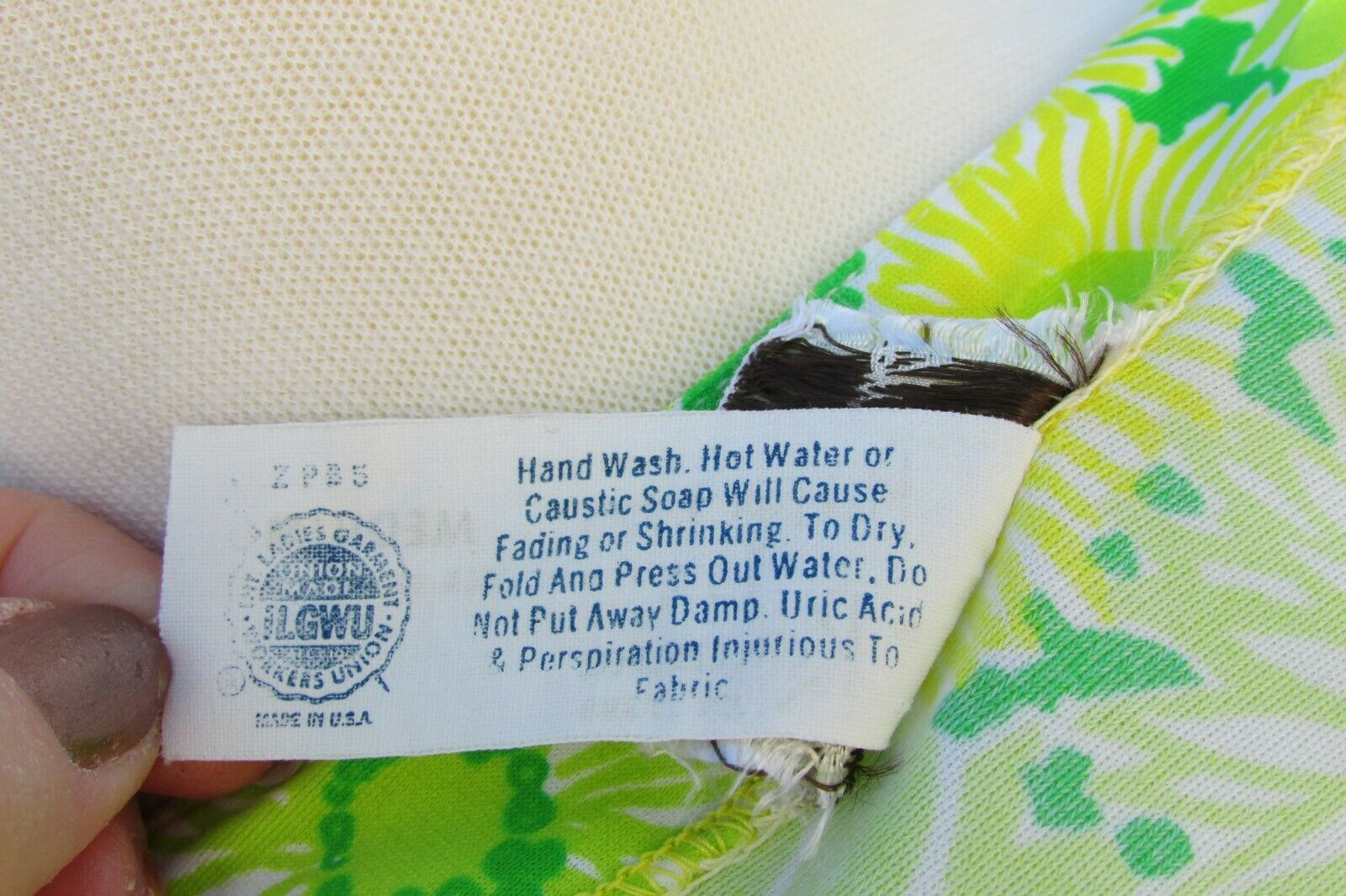 GREEN NEON VTG 70's Swimwear Cover Up-Perfection … - image 9