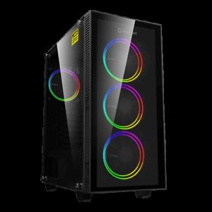 GameMax-ATX-Mid-Tower-A363-TA-Gaming-PC-Desktop-Computer-Case-W-RGB-LED-Fans