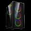 GameMax-ATX-Mid-Tower-A363-TA-Gaming-PC-Desktop-Computer-Case-W-RGB-LED-Fans miniature 1