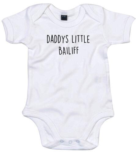 Alguacil Traje de Cuerpo Regalo Personalizado Papi está pequeño bebé crezca