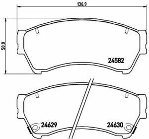 BREMBO (P 49 039) Bremsbeläge, Bremsklötze vorne für MAZDA