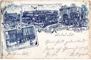 Ak 1898 Kreiensen Einbeck Stazione Sala Da Pranzo Buffet Ebay