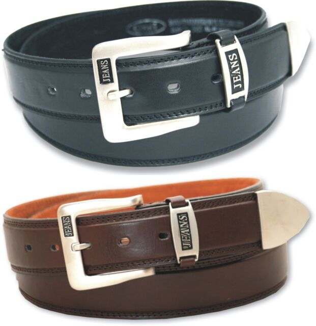 Fossil Belt Black Leather Buckle Belts size 44 inches 110cm  BNWT  MB416100144