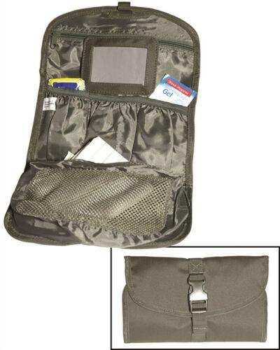 Armée militaire combat suspendus lavage rasage toilette voyage miroir sac trousse rouleau noir