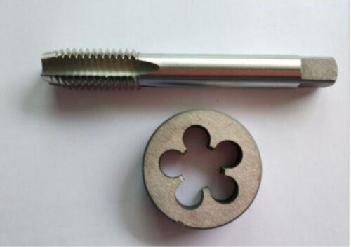 NEW1pc HSS M14 X 1.5mm Plug Left Tap and 1pc M14 X 1.5mm Left Die Threading Tool