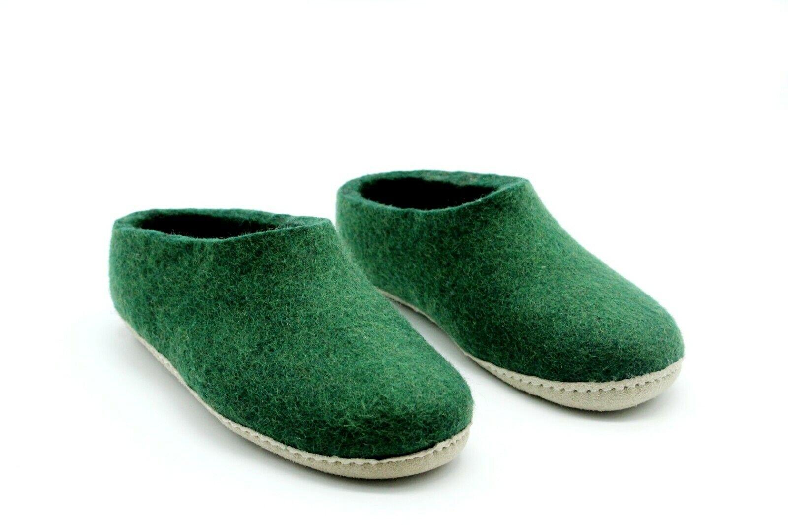 Handmade Felt Slipper - Made From Pure NewZealand Wool - Unisex slipper - Nepal