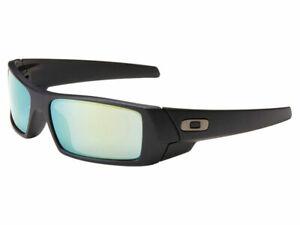 Oakley-Gascan-Sunglasses-26-245-Matte-Black-Emerald-Iridium