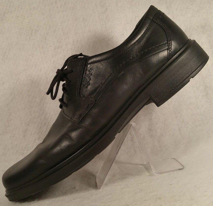 ECCO Berlin Black Leather Oxford Shock Point Comfort Dress shoes Men 47   13 13.5