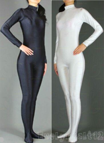 Wholesale Lycra Spandex Adult Unitard Catsuit Bodysuit Back Zip 5 Sizes