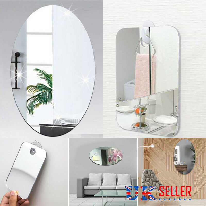 Anti-fog Acrylic Home Hotel Shower Shaving Mirror Bathroom Fogless Makeup Mirror