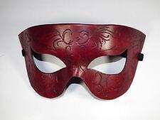 Red spirali a punta in pelle semplici fatti a mano Maschera Veneziana Ballo in Maschera