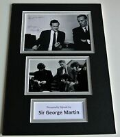 Sir George Martin SIGNED autograph A4 Photo Mount Display The Beatles Music COA