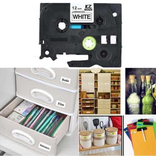 9mm 12mm Schriftband-Kassette für Brother P-Touch für Beschriftungsbänder NEU