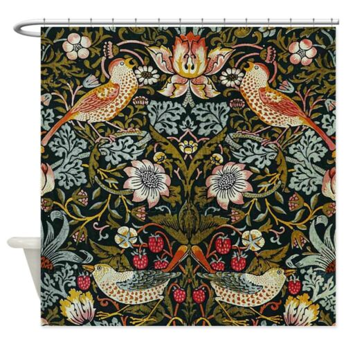 CafePress William Morris Strawberry Thief Shower Curtain 833193511