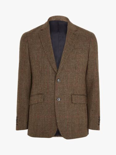 New Hackett Blazer Wool Check Brown 40R