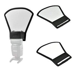 Universal-Flashgun-Speedlite-Light-Diffuser-Softbox-Reflector-Silver-White