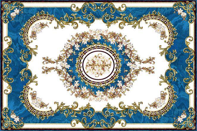 3D Blau Elegant Pattern Floor WallPaper Murals Wall Print Decal 5D AJ WALLPAPER